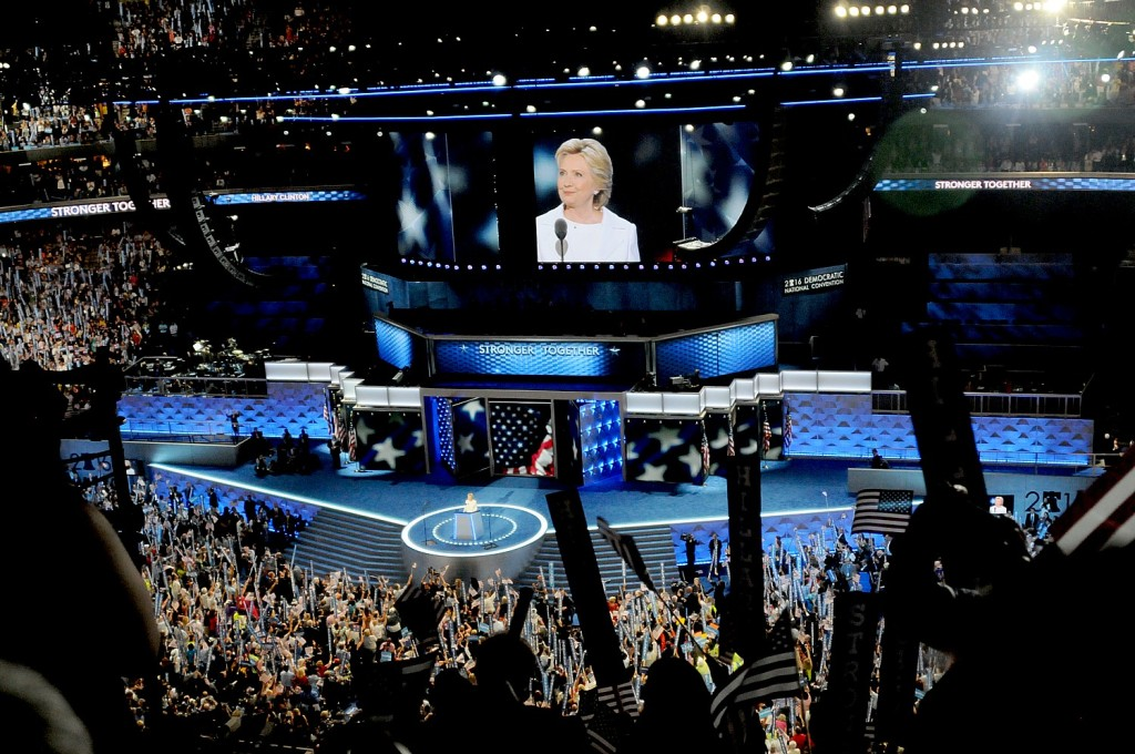 Hillary Rodham Clinton addresses the Democratic National Convention © Karen Rubin/news-photos-features.com