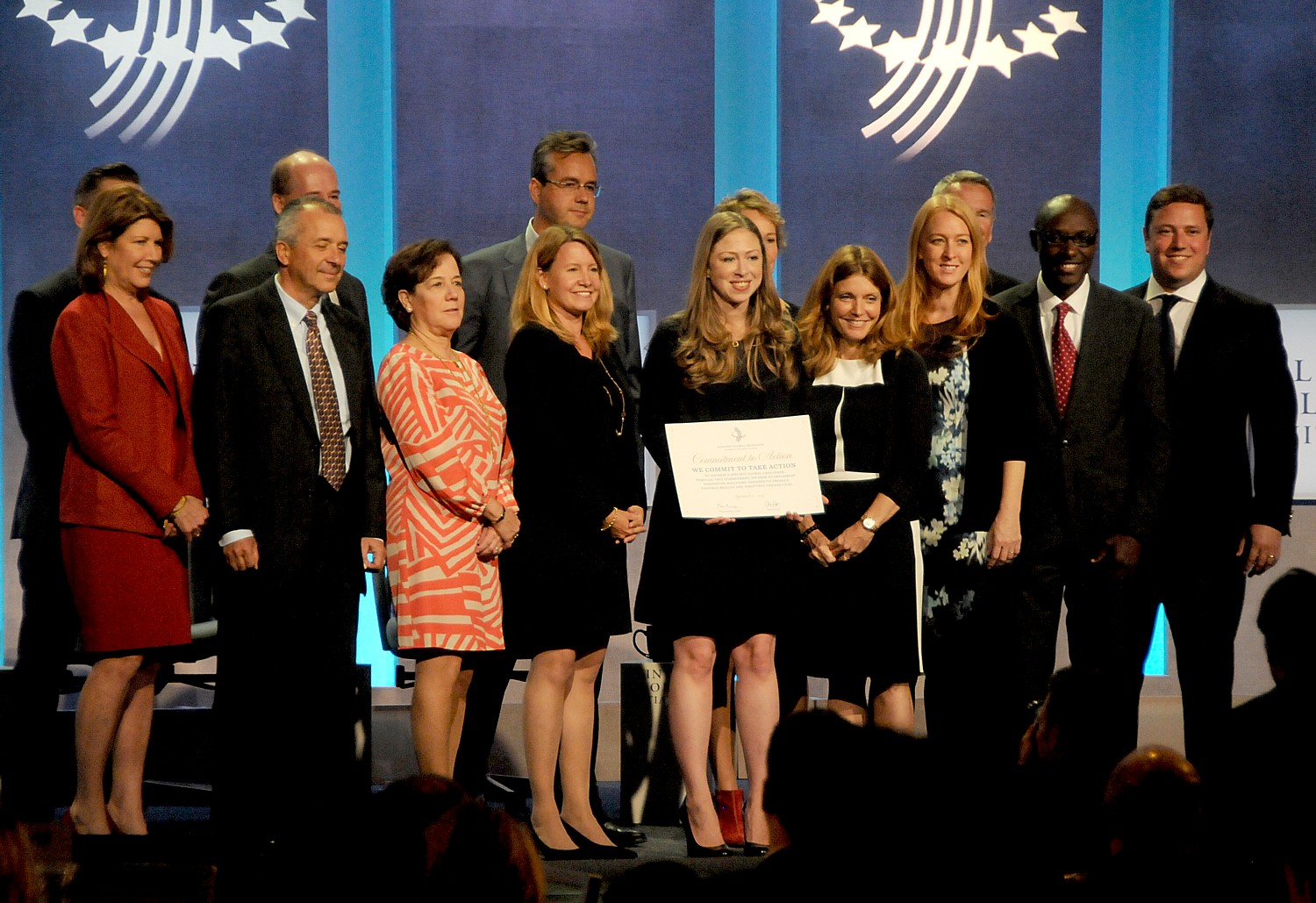 Chelsea Clinton announces a collaboration for commitment to action during the 2015 CGI © 2016 Karen Rubin/news-photos-features.com
