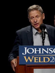 "Libertarian Party presidential candidate Gary Johnson"" This is a crazy election because in spite of Aleppo, I think I will be the next president of the United States."" © 2016 Karen Rubin/news-photos-features.com"