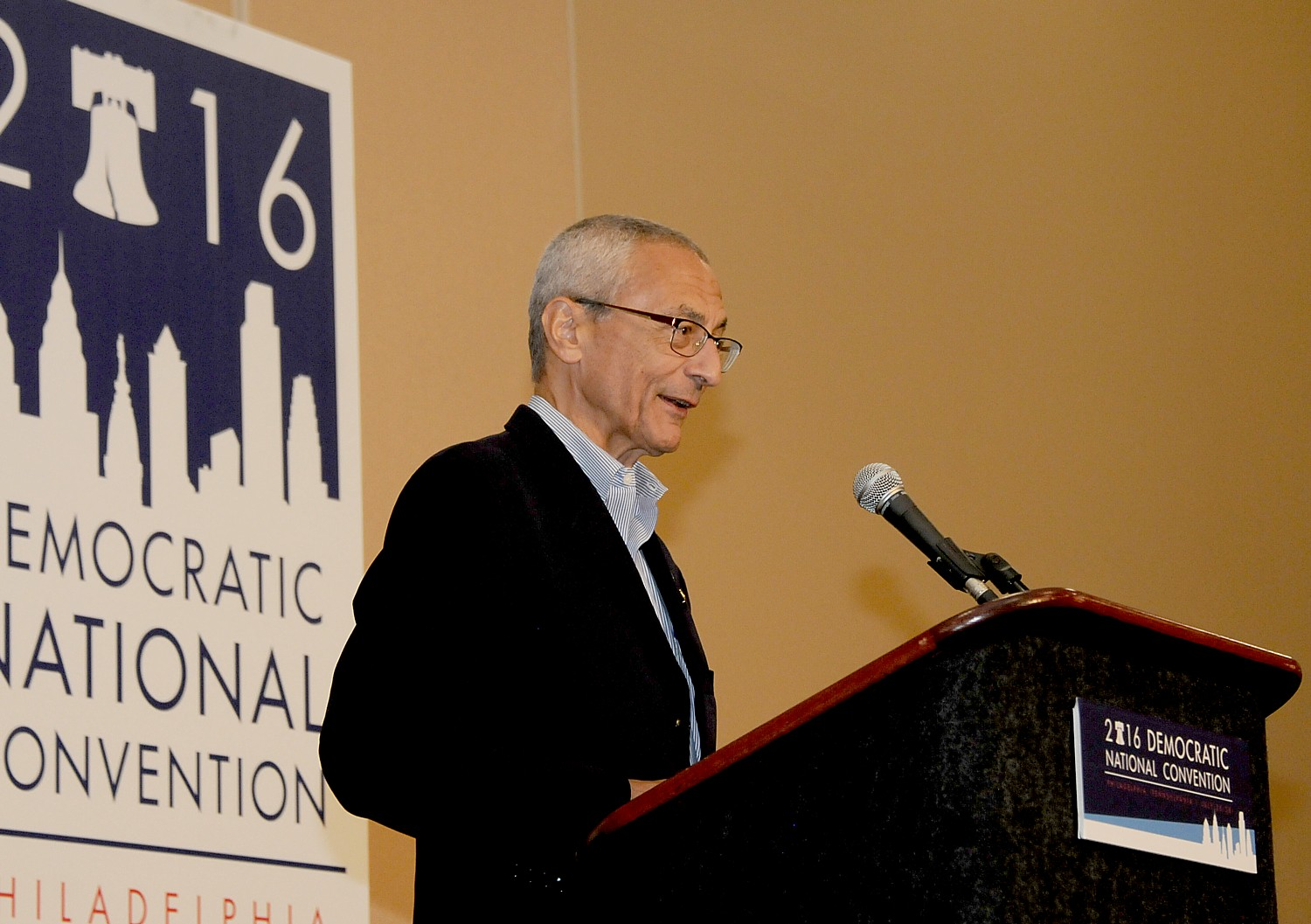 "Hillary for America Chair John Podesta: ""It is extraordinary that we would see something like this just 11 days out from a presidential election. The Director owes it to the American people to immediately provide the full details of what he is now examining. We are confident this will not produce any conclusions different from the one the FBI reached in July."" © 2016 Karen Rubin/news-photos-features.com"